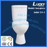 Lavage à grande eau 2 parties de toilette, toilette en deux pièces, toilette de PCS du modèle simple deux de lavage à grande eau