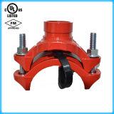 Té mécanique de fer malléable de qualité cannelé avec FM/UL reconnu