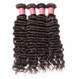 Волосы девственницы оптовой дешевой волны цены глубокой бразильские