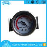 indicateur de pression en acier noir de vide de 1.5 '' 40mm avec la bride d'U