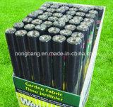 Tela plástica tejida PP negra de la estera de la barrera de Weed