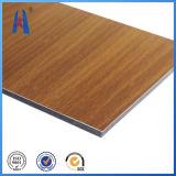 Panneau composé en aluminium de texture en bois