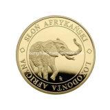 Personalização barata gravada da moeda do desafio do elefante