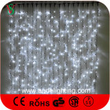 indicatori luminosi bianchi della tenda delle decorazioni esterne di natale 600LEDs di 2X3m