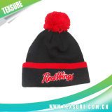 Promotional Unisex Reversible Knitted Beanie Hat with Pompom (090)