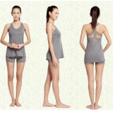 80%Cotton 20%Spandex Qualitäts-kundenspezifisches Yoga stellt Yoga-Kleidungs-Yoga Legging Yoga-Kurzschlüsse ein
