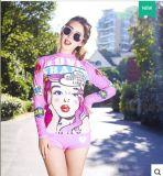 Muta umida della stampa di Swimwear&Colour del manicotto di Lycra delle donne asciutte rapide breve