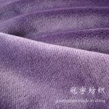 Tissu de polyester de velours de cheveu court pour le sofa