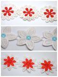 Laço por atacado do bordado da flor do fio do leite da alta qualidade para a decoração