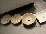 Polished бежевая раковина камня мрамора нефрита канифоли для ванной комнаты/кухни