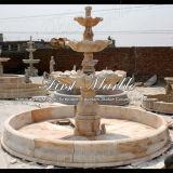 Fontana di pietra di marmo Mf-472 della luce rossa di Ny della fontana del granito