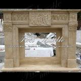 Camino di pietra di marmo Mfp-322 dell'indicatore luminoso dell'oro del deserto del camino del granito
