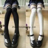 Gli Ginocchio-Alti allievi pettinati dei calzini del cotone rendono le calze