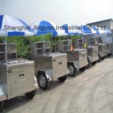 Camion de kiosque de nourriture de crême glacée chariot mobile de nourriture de la CE de 3 mètres de certificat de poussée long de main