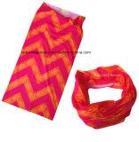 Il poliestere dei prodotti dell'OEM ha personalizzato la sciarpa promozionale del tubo del collo stampata marchio