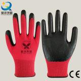 Раковина Natrile Polester 13 датчиков покрыла перчатки работы безопасности перчатки трудные защитные (N7003)