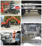 Máquina escavadora pequena da roda da máquina da construção com o certificado ISO9001