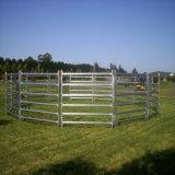 Equipamento galvanizado dos rebanhos animais da cerca da exploração agrícola 6 painéis do gado dos trilhos