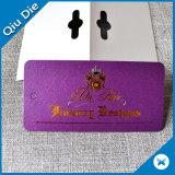 明るい金ホイルの紫色のペーパー振動切符のラベルの札の製造者
