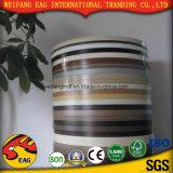 良質の木製の穀物カラーまたは赤い青カラーPVC端バンディング