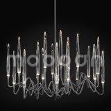 Moderno metal de hierro de Europa de lujo de oro G4 LED lámpara de cristal para sala de estar
