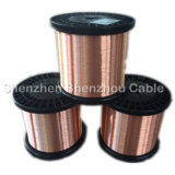 Alambre plano y redondo de aluminio revestido de cobre