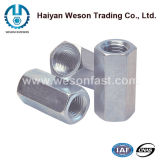 DIN6334 Stainless Steel 410 Long Body Hex Nut 또는 Coupling Nut