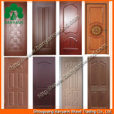 3mm Natural Veneered Door Skin con Sapele Ash Teak Red Oak Mahogany
