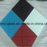 couleurs en verre de 2mm-6mm peintes par couleur (blanc, noir, jaune, bleu, vert, beige)