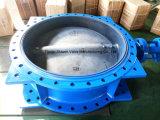 Pneumatisches betätigtes geflanschtes Drosselventil mit Platte des Edelstahl-CF8