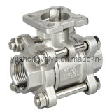 Carbonio Steel Thread 3PC Ball Valve