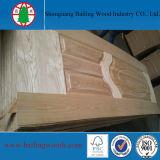 Piel moldeada HDF de madera natural de la puerta de la chapa
