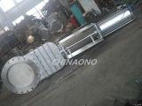 Neumático de doble acción de guillotina Válvula con brida