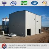 Construction légère d'atelier de structure métallique