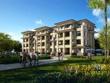 Конструкция жилого массива 3D с рекреационным пейзажем ландшафта зон
