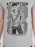 [توب قوليتي] جديدة تصميم شامة طبعة قطر نمو رجال [ت] قميص