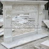 Camino bianco Mfp-477 di Carrara del granito di pietra di marmo dell'interno