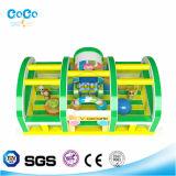 Cocowater Entwurfs-aufblasbarer Spielplatz-Thema-Prahler/Plättchen LG9037
