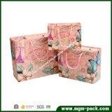 Рециркулируйте мешок изготовленный на заказ шикарной покупкы печатание логоса бумажный