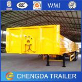 Eixo 3 de 60 toneladas de uma gota do lado da carga reboques Semi para a venda