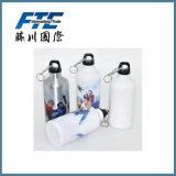 Bottiglia di acqua di alluminio di sport con la bottiglia su ordinazione dell'alluminio di marchio