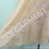 Свободное шифоновое платье способа вышивки морщинки для повелительницы (DR-43)