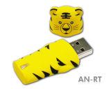 Memoria del mecanismo impulsor del flash del USB del PVC de la historieta (PZM1002)