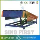 ponte fixa hidráulica da rampa da carga de 10ton 12ton