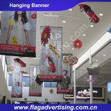 Fábrica de indicadores colgantes publicitarios de encargo de la bandera de la flexión de la impresión de Digitaces
