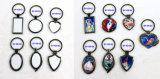 Kreatives Art-rundes MetallKeychain unbelegter Sublimation-Schlüsselring