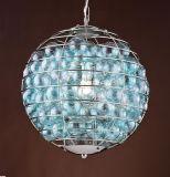 유리제 공을%s 가진 현대 샹들리에 램프