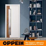 Portello interno di legno della melammina bianca di disegno semplice di Oppein (YDG002D)