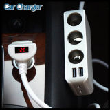4 Porta USB 6.8A e 3 Cigarette Lighter Hub Socket Quad Outlets 12V ~ 24V Adapter Car Charger