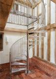Raumersparnis-Edelstahl-gewundenes Treppenhaus-Glasinstallationssätze für Dachboden-Wohnung